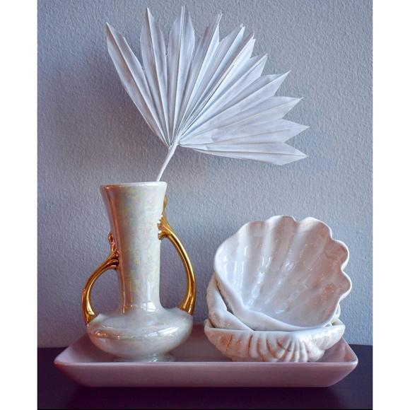 Iridescent vintage vase